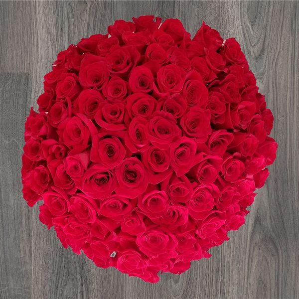 100 PASSION ROSES BOUQUET | Mia Florist