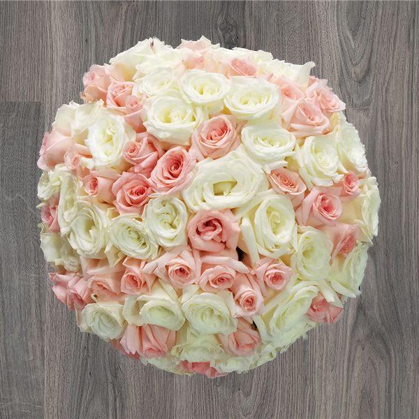 100 CONNUBIAL ROSES BOUQUET | Mia Florist