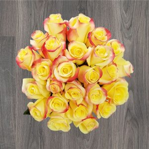 Send yellow roses bouquets with same day delivery in miami mia belle roses bouquet mightylinksfo