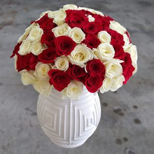 100 mix roses front