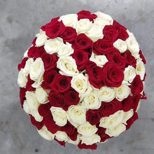100 mix roses top